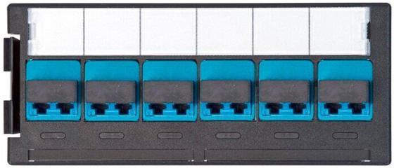 Quick-Fit module 6хLC Duplex (12 FO), MM, Aqua