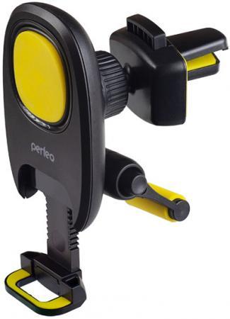 Perfeo-533 Автодержатель для смартфона до 6,5/ на воздуховод/ магнитный/ с опорой/ черный+желтый (PF_A4347) автодержатель