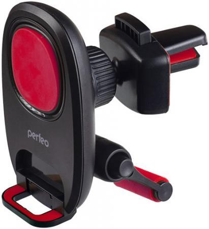 Perfeo-533-2 Автодержатель для смартфона до 6,5/ на воздуховод/ магнитный/ с опорой/ черный+красный (PF_A4348) perfeo ph 518 3 автодержатель для смартфона до 6 5 на воздуховод магнитный черный красный pf a4462