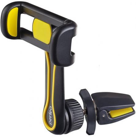 Perfeo-534 Автодержатель для смартфона до 6,5/ на воздуховод/ раздвижной/ поворотный/ черный+желтый (PF_A4349) автодержатель