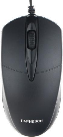 Мышь проводная Гарнизон GM-220 чёрный USB