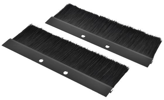 ЦМО! Комплект щеточного ввода в шкаф, универсальный, цвет черный КВ-Щ-55.210А-9005