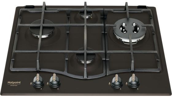 Встраиваемые газовые панели HOTPOINT-ARISTON/ Газ.4 газовые конфорки, конфорка с тройным рядом пламени, газ-контроль, чугунные решетки, автоподжиг. Цвет: антрацит, белый