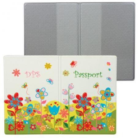 Обложка для паспорта Твой стиль - Цветы, вертикальная, кожзаменитель, ДПС, 2203.Т5