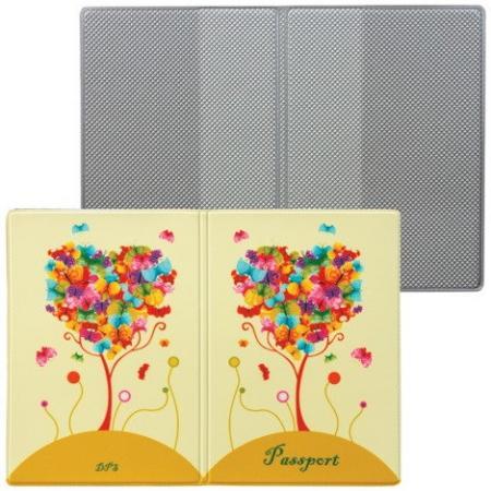 """Обложка для паспорта """"Твой стиль - Дерево"""", вертикальная, кожзаменитель, """"ДПС"""", 2203.Т6 стоимость"""