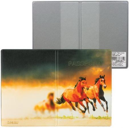 Обложка для паспорта Твой стиль-Лошади, вертикальная, кожзаменитель, ДПС, 2203.Т9
