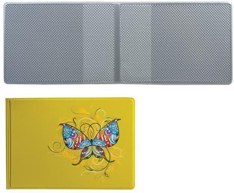 Обложка для пластиковых карт, дорожных билетов, студенческих билетов Бабочка, кожзаменитель, ДПС, 2757.Т1 авиабилеты стоимость билетов
