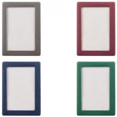Обложка-карман для проездных документов, ПВХ, в цветной рамке, ассорти, 75х105 мм, ДПС, 2862