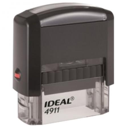 Оснастка для штампа, оттиск 38х14 мм, синий, TRODAT IDEAL 4911 P2, подушка, корпус черный, 125417