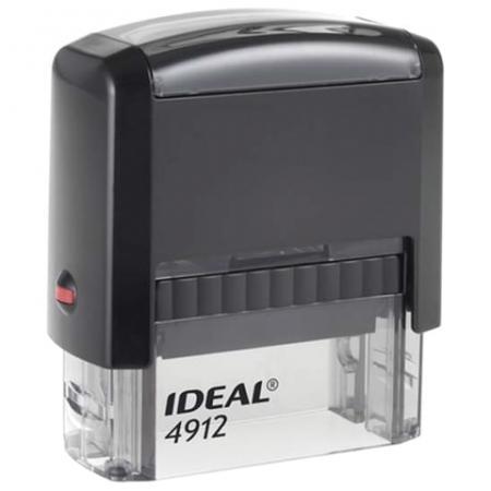 Оснастка для штампа, оттиск 47х18 мм, синий, TRODAT IDEAL 4912 P2, подушка, корпус черный, 125420