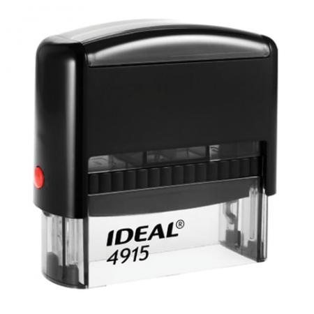Оснастка для штампа, оттиск 70х25 мм, синий, TRODAT IDEAL 4915 P2, подушка, корпус черный, 125429