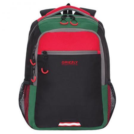 Рюкзак GRIZZLY универсальный, черный/красный, 31х42х22 см, RU-922-3/1 рюкзак городской grizzly цвет синий ru 804 1 4