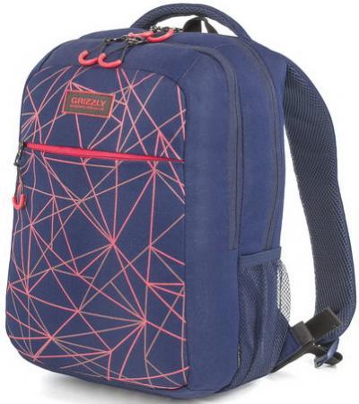 Рюкзак GRIZZLY универсальный, темно-синий, Лучи, 26х39х19 см, RU-933-1/3 рюкзак городской grizzly цвет синий ru 804 1 4
