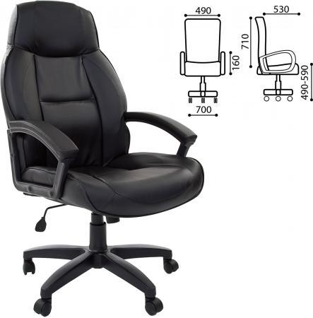 Кресло офисное BRABIX Formula EX-537, экокожа, черное, 531388