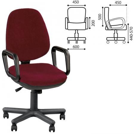 Кресло офисное NOWY STYL Comfort GTP 530554 бордовый
