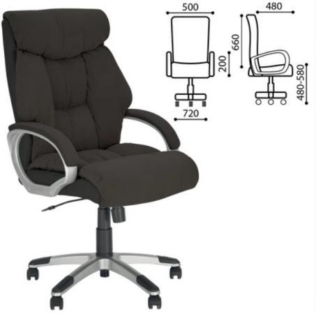 """Кресло офисное """"Cruise"""", ткань/кожзам, черное, Microfibre mantra 4634"""