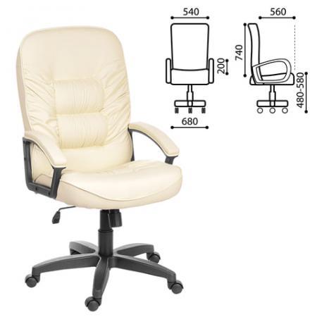 Кресло офисное Лидер, СН 416, кожзам, бежевое