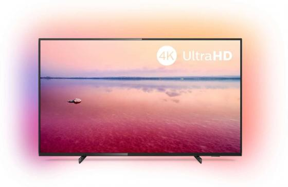 "Телевизор LED 50"" Philips 50PUS6704/60 черный 3840x2160 60 Гц Wi-Fi Smart TV RJ-45 цена и фото"