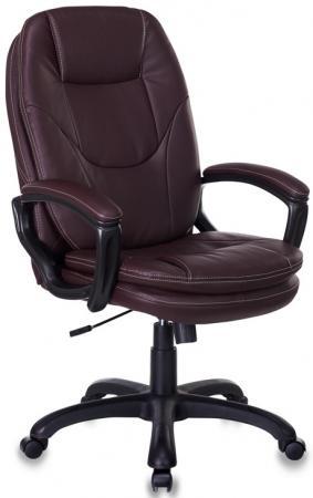 Кресло руководителя Бюрократ CH-868LT/BROWN коричневый искусственная кожа (пластик черный) кресло руководителя бюрократ ch 824b lgrey серый искусственная кожа