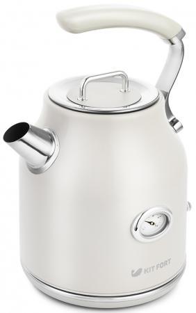 Чайник электрический KITFORT КТ-663-1 2200 Вт бежевый 1.7 л нержавеющая сталь чайник электрический kitfort кт 663 1 1 7л 2200вт бежевый