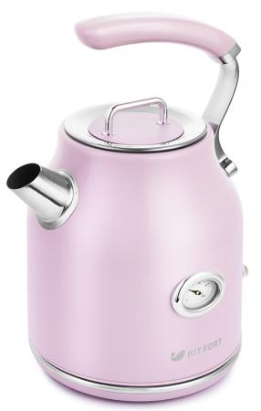 Чайник электрический KITFORT КТ-663-3 2200 Вт розовый 1.7 л нержавеющая сталь чайник электрический kitfort кт 665 3 2150 вт белый 1 8 л нержавеющая сталь
