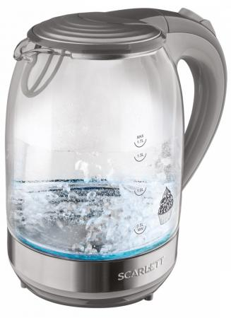 лучшая цена Чайник электрический Scarlett SC-EK27G64 2200 Вт серый 1.7 л стекло