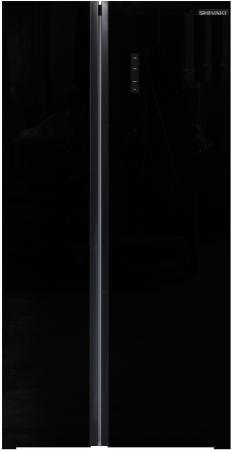 Холодильник Shivaki SBS-574DNFGBL черное стекло (двухкамерный)