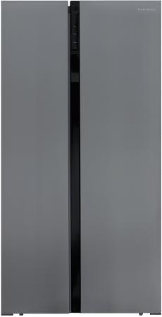 лучшая цена Холодильник Shivaki SBS-574DNFX нержавеющая сталь (двухкамерный)