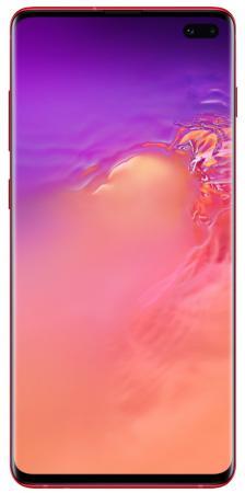 Смартфон Samsung Galaxy S10+ гранатовый 6.4 128 Гб NFC LTE Wi-Fi GPS 3G Bluetooth SM-G975FZRDSER смартфон samsung galaxy j6 2018 золотистый 5 6 32 гб lte wi fi gps 3g