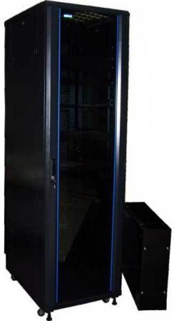 лучшая цена Шкаф серверный Lanmaster TWT-CBA-18U-6X8-00 18U 600x800мм 2 бок.пан. 800кг черный