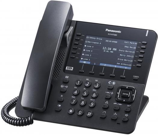 Телефон IP Panasonic KX-NT680RU-B черный телефон
