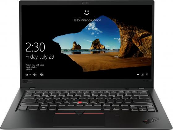 "Ультрабук Lenovo ThinkPad X1 Carbon Core i7 8650U/16Gb/SSD512Gb/Intel UHD Graphics 620/14""/IPS/FHD (1920x1080)/Windows 10 Professional 64/black/WiFi/BT/Cam цена и фото"