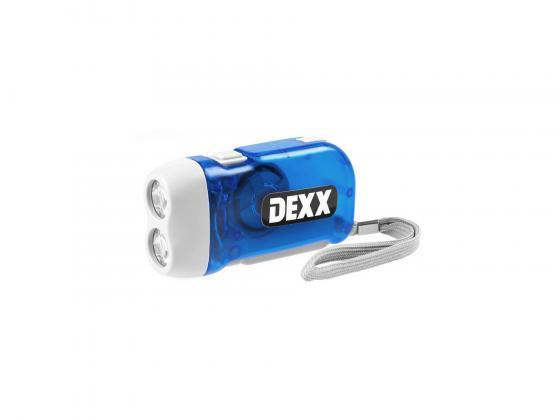 цена на Фонарь DEXX 56700 динамо ручной жук пластик 2хLED