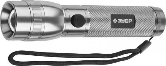 Фото - Фонарь ЗУБР 56202-S эксперт ручной алюм корпус линза LED металлик 3хААa 3Вт фонарь зубр 56206 эксперт ручной алюм 8хled лазер 3 режима 3хааа металлик