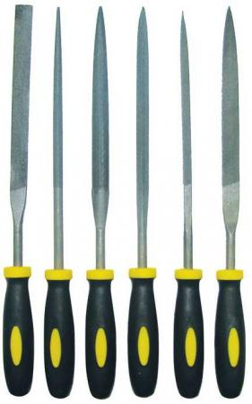 Набор надфилей BIBER 85311 150мм с двухкомпонентной ручкой набор 6шт.