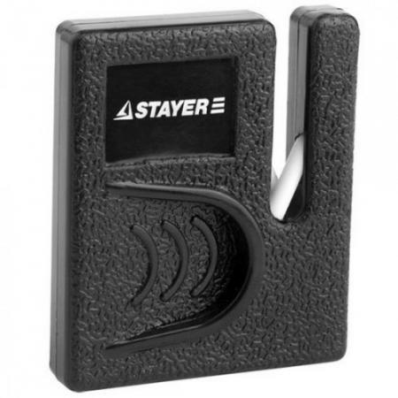 цена на Точилка для ножей STAYER 47511 master для ножей компактная керамическая рабочая часть