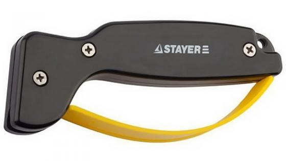 цена на Точилка для ножей STAYER 47513 master универсальная с защитой руки рабочая часть из карбида