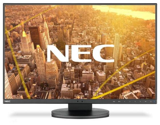 "Монитор 23.8"" NEC MultiSync EA241F черный IPS 1920x1080 250 cd/m^2 5 ms DVI HDMI DisplayPort VGA Аудио USB монитор 24 nec pa242w sv2 серебристый ah ips 1920x1200 340 cd m^2 8 ms dvi hdmi displayport vga usb"