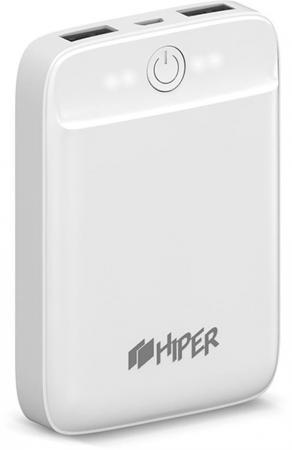 Фото - Внешний аккумулятор Power Bank 10000 мАч HIPER SL10000 белый внешний аккумулятор power bank 10050 мач asus zenpower abtu005 черный 90ac00p0 bbt076