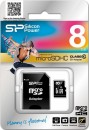 Карта памяти Micro SDHC 8GB Class 10 Silicon Power SP008GBSTH010V10-SP + адаптер SD