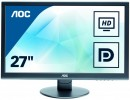"Монитор 27"" AOC E2752VQ черный TN 1920x1080 300 cd/m^2 2 ms DVI HDMI DisplayPort VGA8"