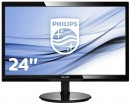 "Монитор 24"" Philips 246V5LSB/00/01 черный TN 1920x1080 250 cd/m^2 5 ms VGA DVI"
