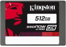 "Твердотельный накопитель SSD 2.5"" 512Gb Kingston SSDNow KC400 Read 550Mb/s Write 530Mb/s SATAIII SKC400S3B7A/512G"