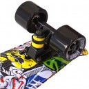 "Скейтборд Y-SCOO Fishskateboard Print 22"" RT винил 56,6х15 с сумкой Cartoon 401G-C3"