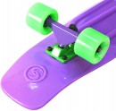 "Скейтборд Y-SCOO Big Fishskateboard 27"" RT винил 68,6х19 с сумкой PURPLE/green 402-Pr3"