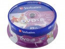 Диски DVD+R Verbatim 16x 4.7Gb CakeBox Printable 25шт 43539
